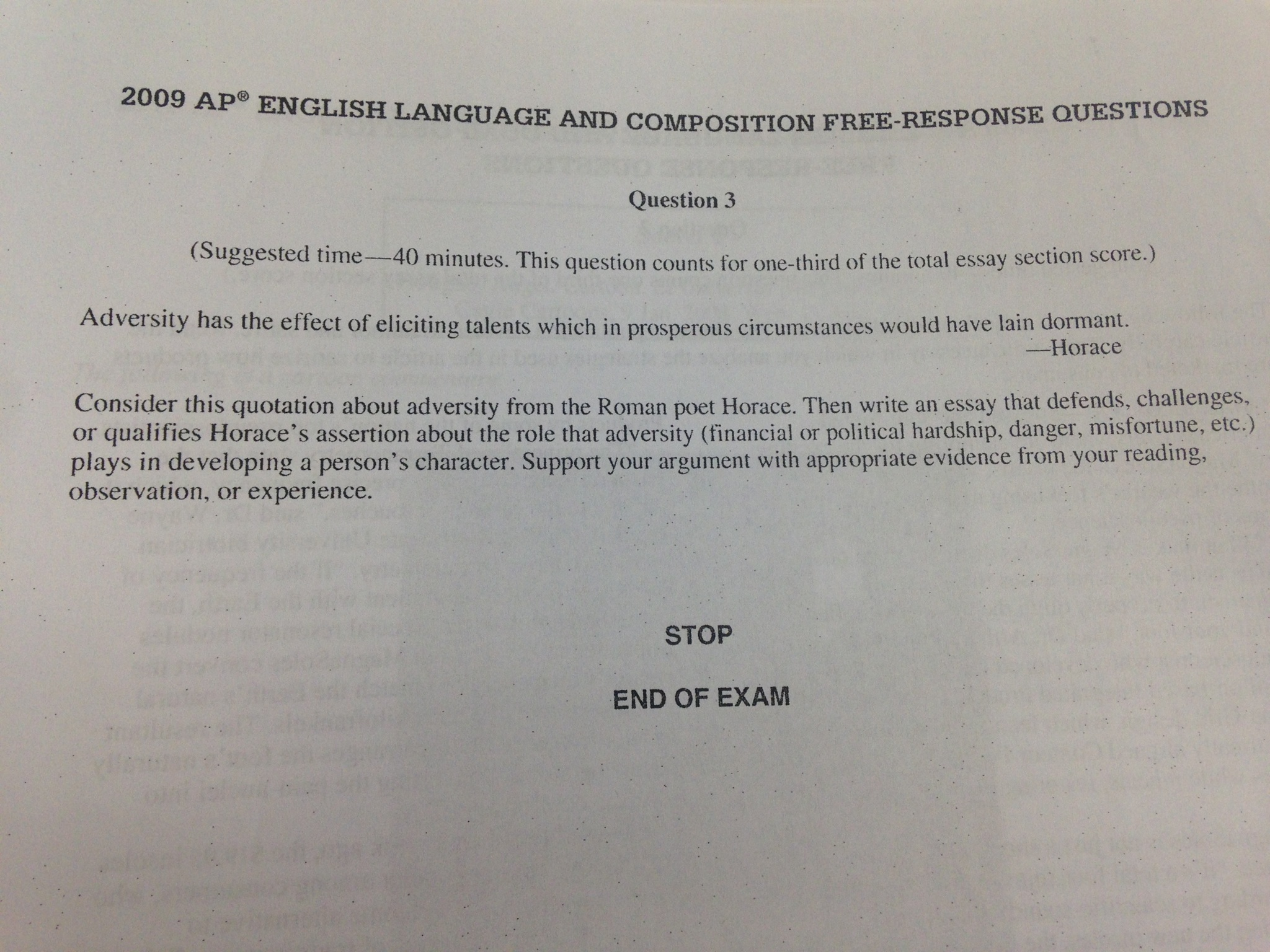 Ap language and composition essay prompts