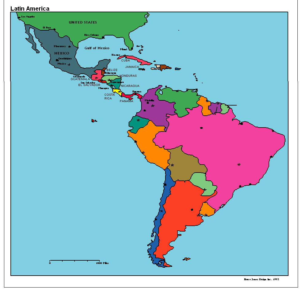 Latin America Political Map Quiz