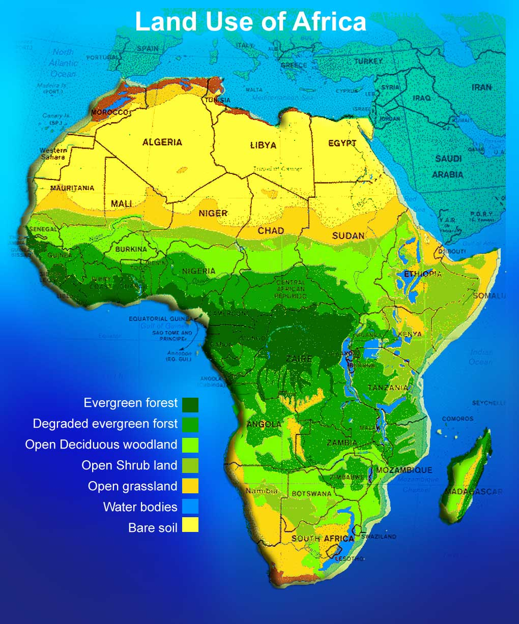 Land Map Of Africa | Map Of Africa