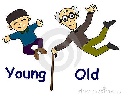 joven viejo