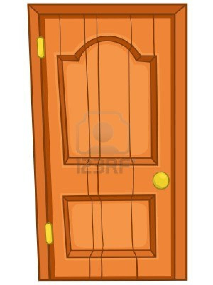 Cartoon classroom door - La Puerta