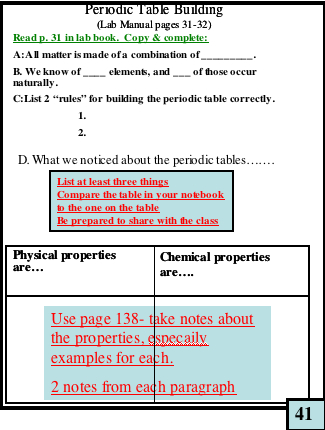 81 Investigation 6a Periodic Table Riddles Periodic 6a Table