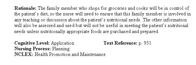 chapter 40 nursing management nutritional problems Chapter 17 nutrition for patients with upper gastrointestinal disorders 403 particular foods or textures diet-focused assessment criteria for upper gi tract.