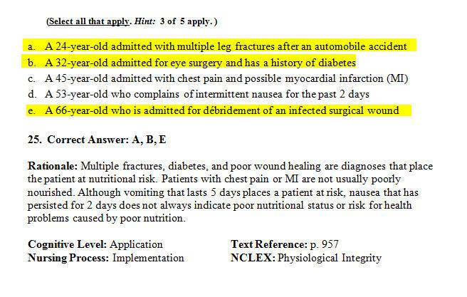 Nclex Practice Test Questions Nursing 1 Flashcards Quizlet ...