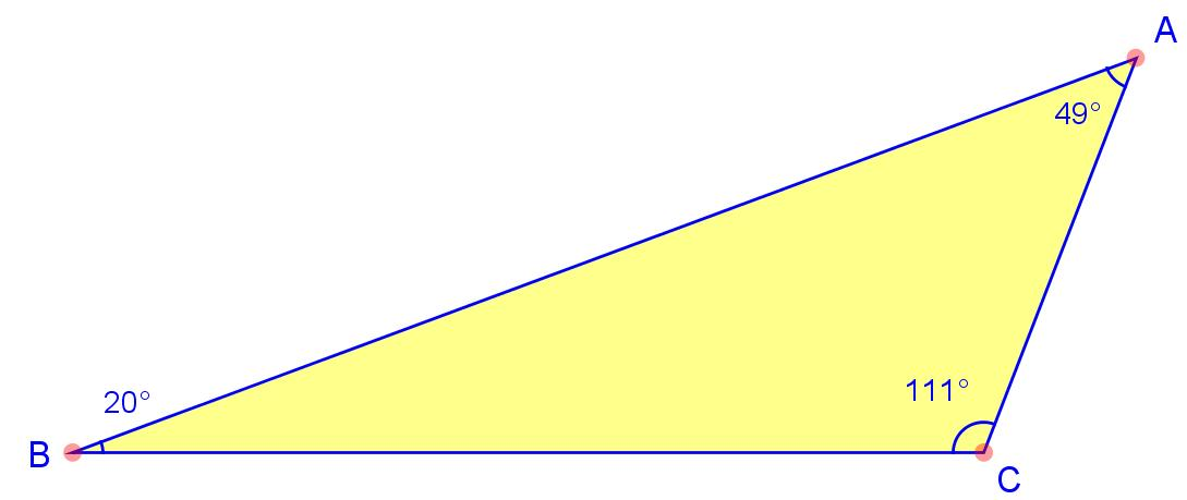 right isosceles triangle obtuse scalene triangle