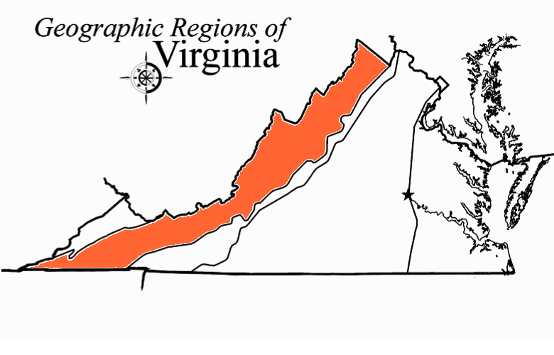 Geographic Regions Of Virginia Map.Quia Virginia S 5 Regions Concentration