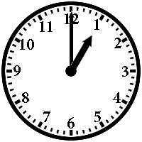 Telling Time 1o'clock - 6o'clock