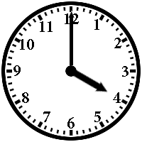 Image result for 4:00 on a clock