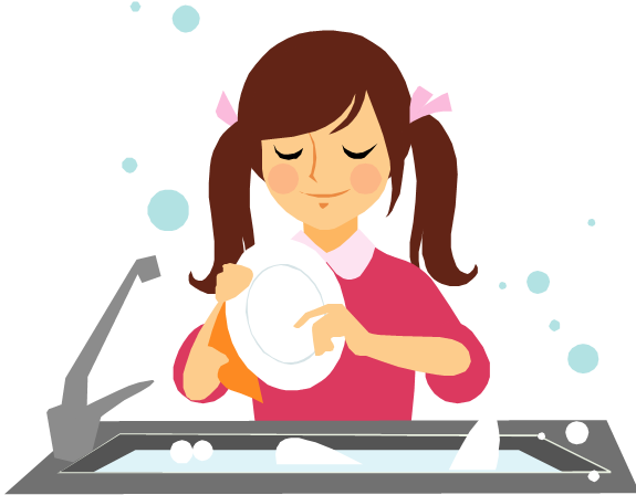Washing Dishes Cartoon | Car Interior Design