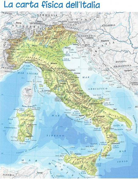 Quia class page italia fisica - Regioni italiane non bagnate dal mare ...