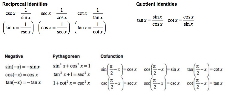 Quia - 08PP02 Quiz - Basic Trigonometric Identities