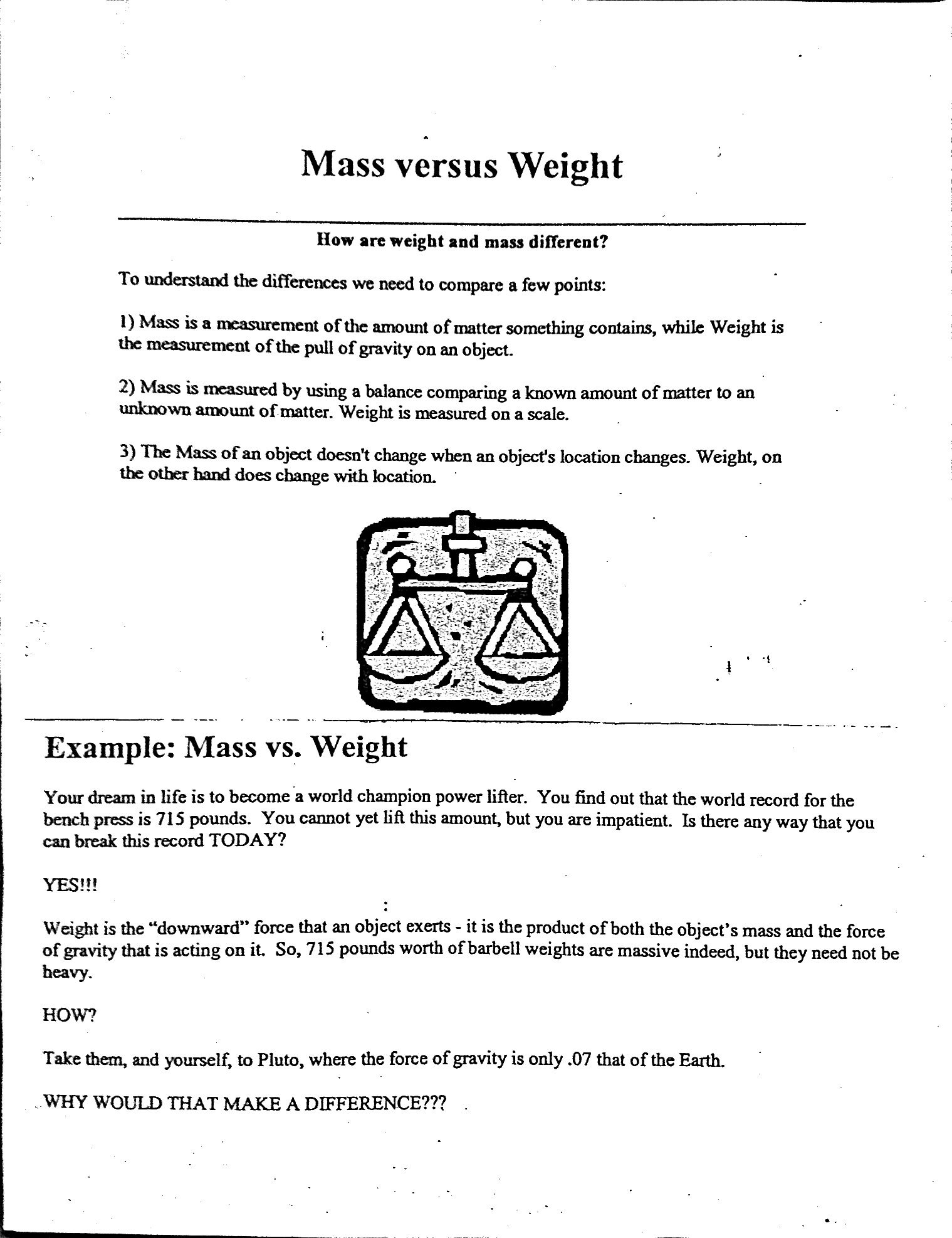 worksheet Measuring Mass Worksheet weight vs mass worksheet free worksheets library download and atomic chemistry pinterest weights worksheets
