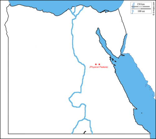 Quia Ancient Egypt Physical Map Quiz - Egypt physical map