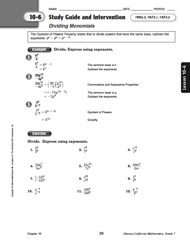 Homework help grade 10 math