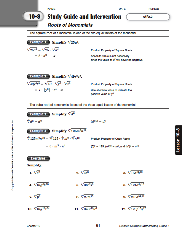 quia - class page - math chapter 10