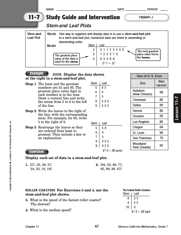 Quia - Class Page - Math Chapter 11