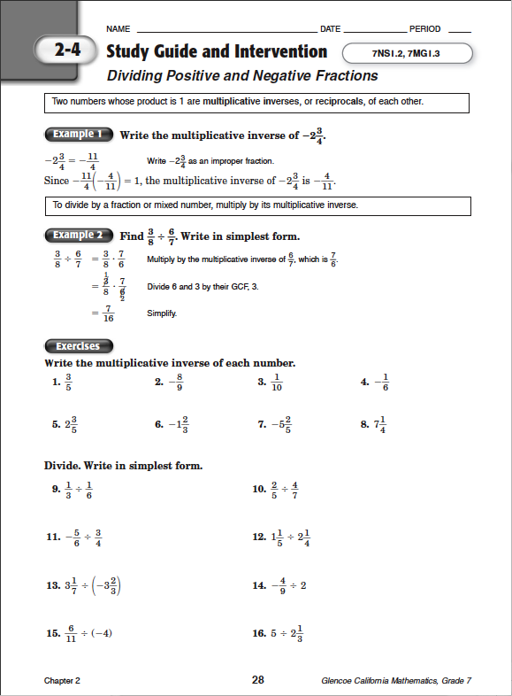 order of operations homework answers