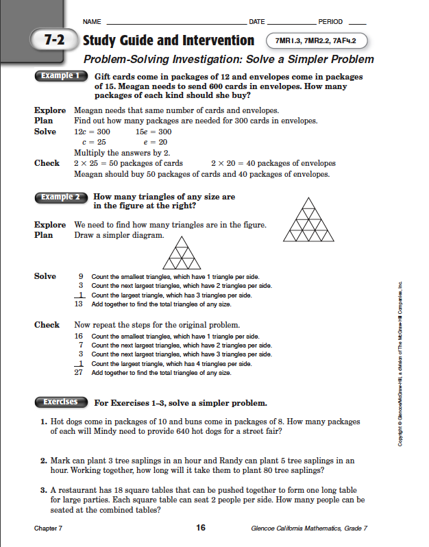 Quia - Class Page - Math Chapter 7