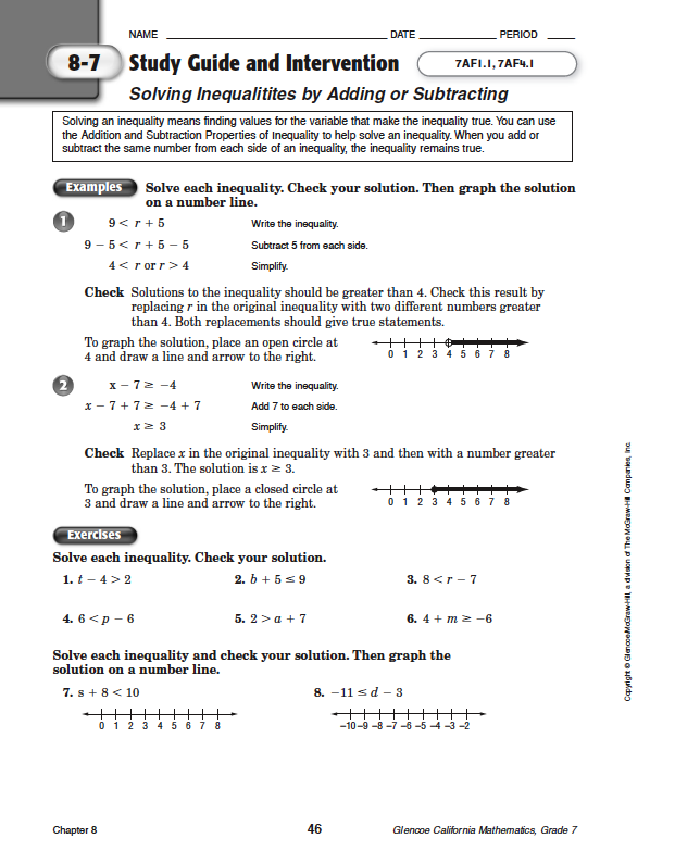 Quia - Class Page - Math Chapter 8