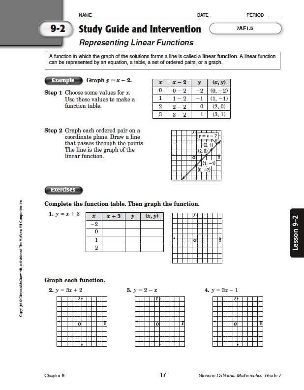 Glencoe Mcgraw Hill Geometry Worksheet Answers - Templates and ...