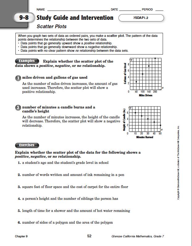 100+ [ Glencoe Algebra 2 Worksheet Answer Key ] : Mcgraw ...