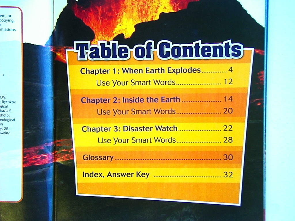 Image result for table of contents images nonfiction book