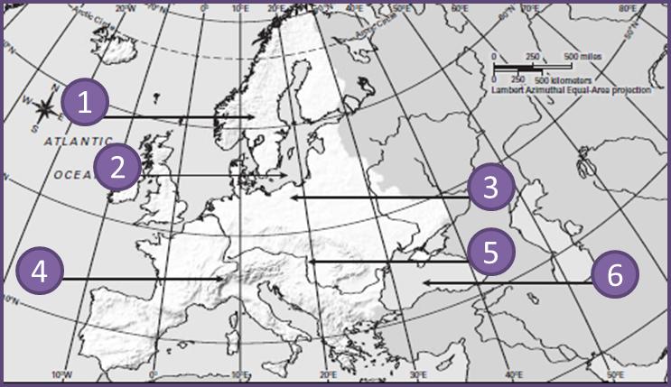 Quia - Europe Physical Map