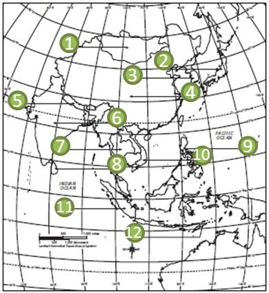 Quia Monsoon Asia Political Map