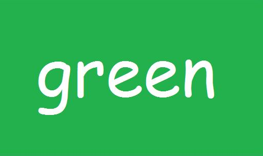 Quia color word match up - What color matches with green ...
