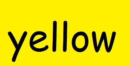 the word yellow
