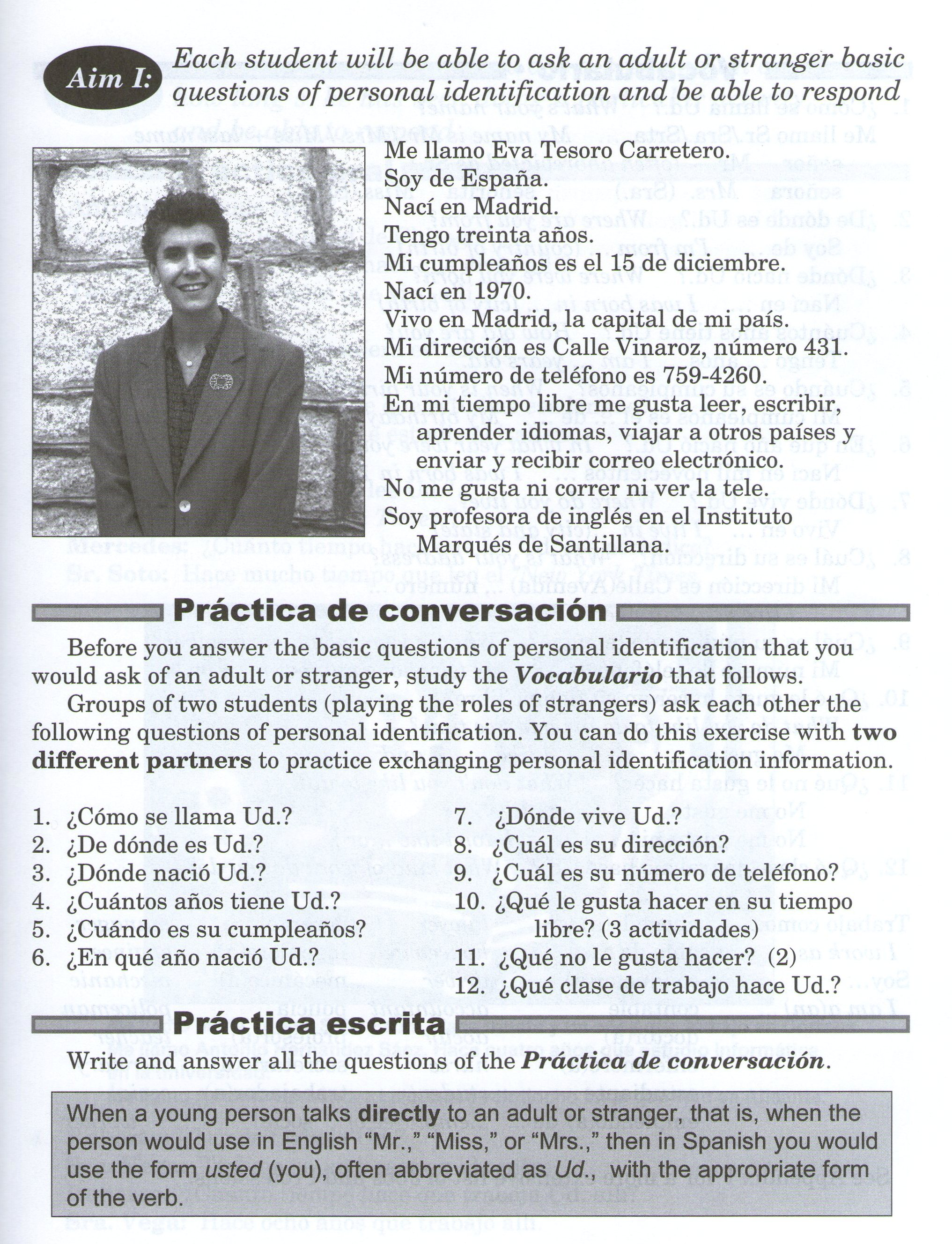 spanish life quizlet