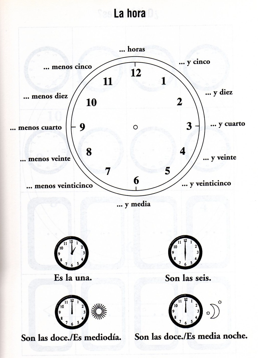 Worksheets La Hora Worksheet que hora es worksheet free worksheets library download and print spanish activity book whats the time qu es