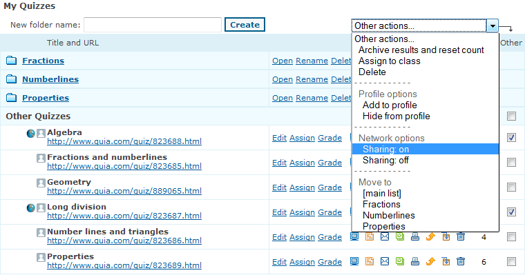 Quia User Guide: Administrator Features